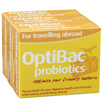 Optibac can help with bowel calm when travelling abroad